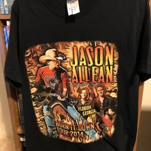 "Jason Aldean ""Burn It Down Tour 2014"" Sz Small"